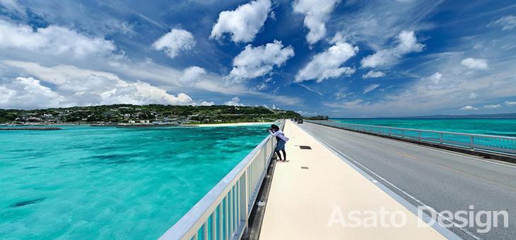 古宇利島・古宇利大橋の360度パノラマ写真