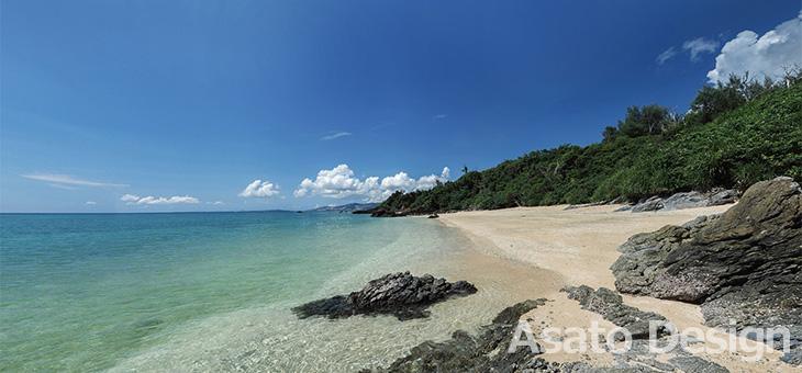 恩納村・名嘉真のビーチの360度パノラマ写真