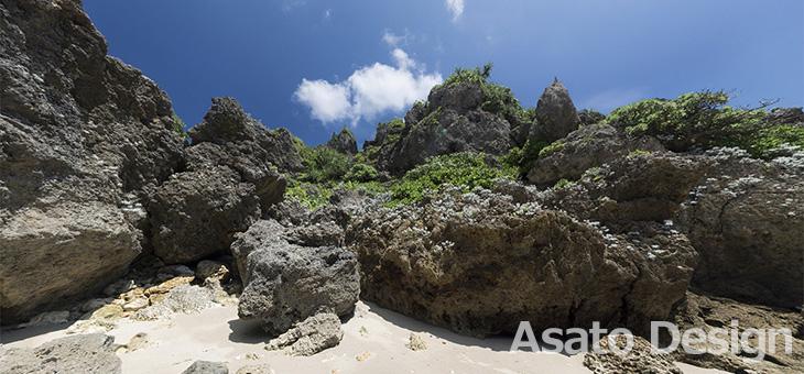 浜比嘉島・久場島の360度パノラマ写真