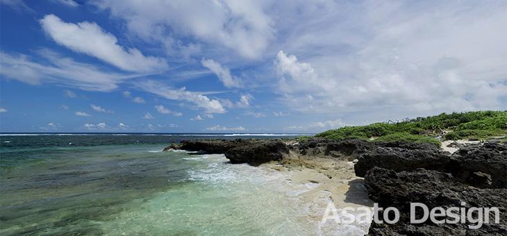 久高島・カベール岬の360度パノラマ写真