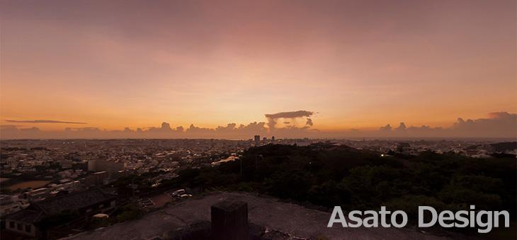 首里城・西のアザナの360度パノラマ写真