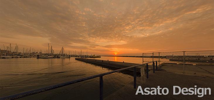 宜野湾市・宜野湾港マリーナの360度パノラマ写真
