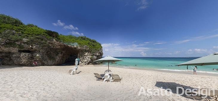 宮古島・砂山ビーチの360度パノラマ写真