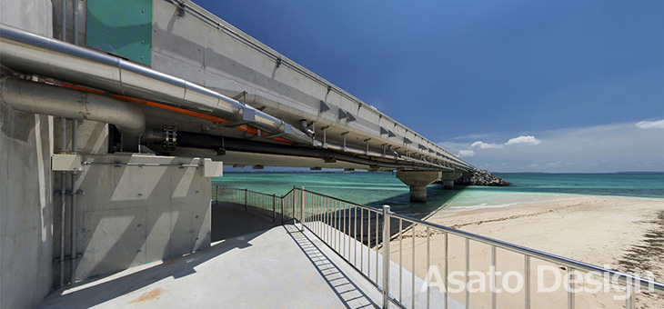 伊良部島・伊良部大橋2の360度パノラマ写真