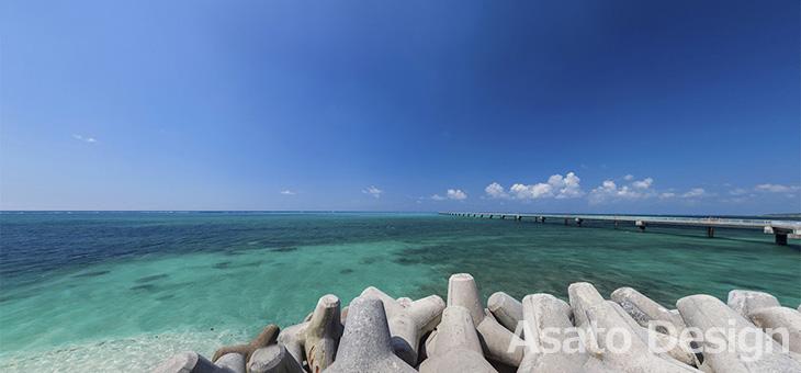 下地島・17エンド2の360度パノラマ写真
