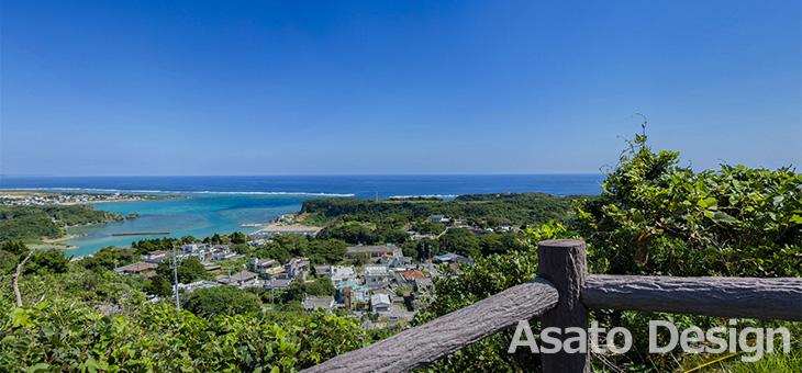 宮城島・シヌグ堂バンタの360度パノラマ写真