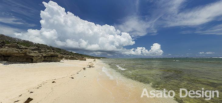 久高島・ピザ浜2の360度パノラマ写真