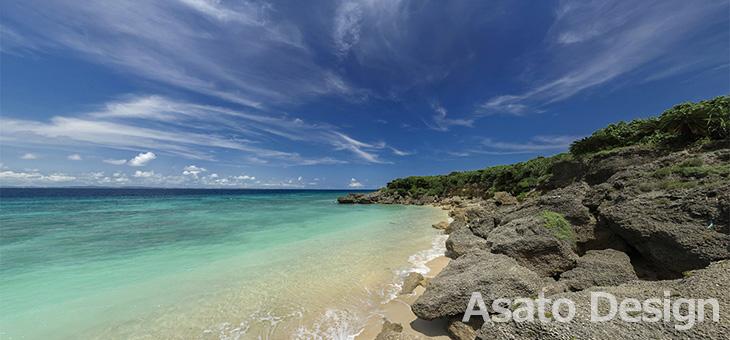 久高島・ウディ浜2の360度パノラマ写真
