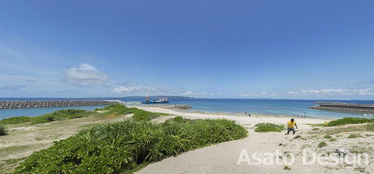 久高島・メーギ浜の360度パノラマ写真