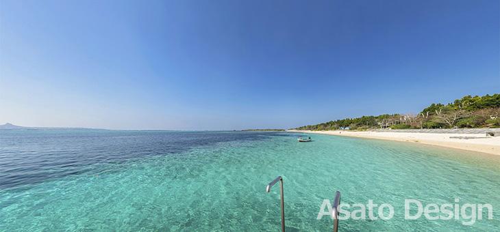 本部町・備瀬のビーチの360度パノラマ写真
