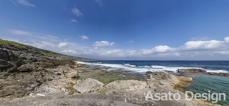 南大東島・海軍棒の360度パノラマ写真