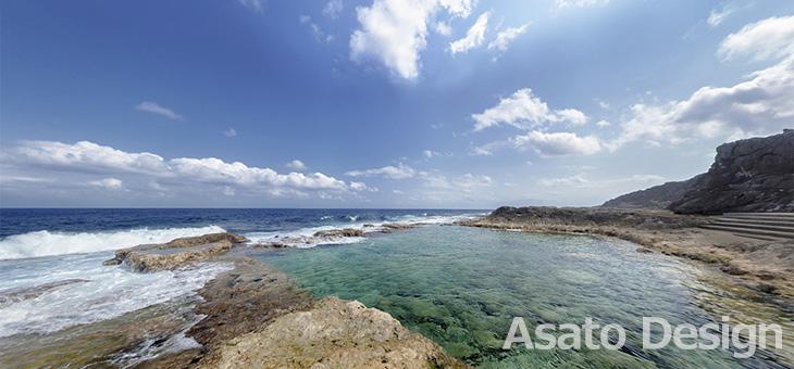 南大東島・海軍棒3の360度パノラマ写真