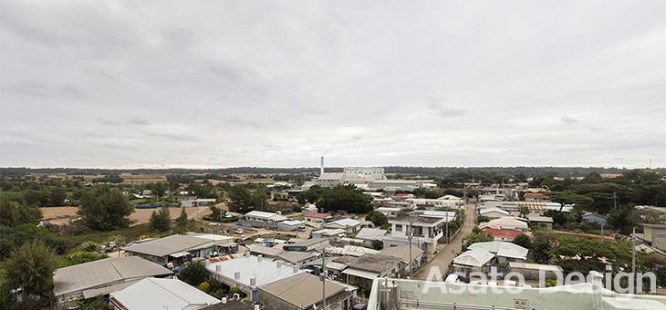 南大東島・ホテルよしざとの屋上の360度パノラマ写真