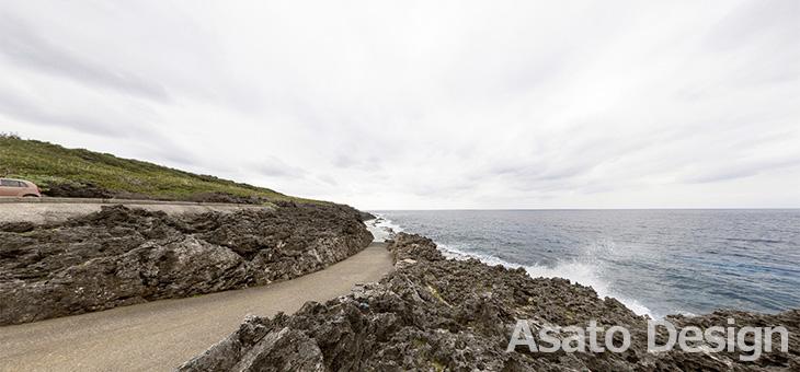 南大東島・塩屋海岸の360度パノラマ写真