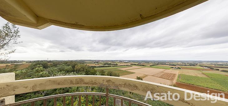 南大東島・日の丸山展望台の360度パノラマ写真