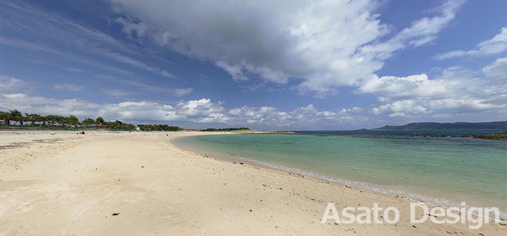 西原町・きらきらビーチの360度パノラマ写真