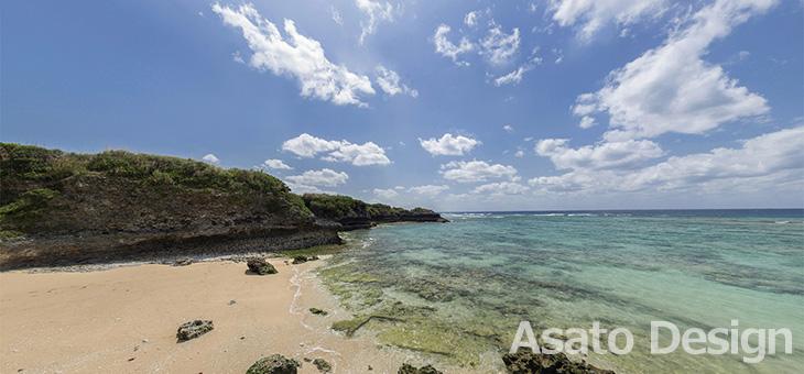 読谷村・高志保の海1の360度パノラマ写真